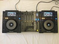 CDJ 900 Nexus decks x2 and DJM 750 mixer