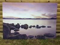Large Wall Hang Cavas Picture - Lake 118cm x 80cm