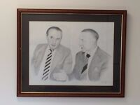 Liverpool & Everton - Pencil drawing of Harry Catrick and Bill Shankley