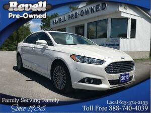 2016 Ford Fusion Titanium AWD  *1-owner Moonroof  Leather  Nav