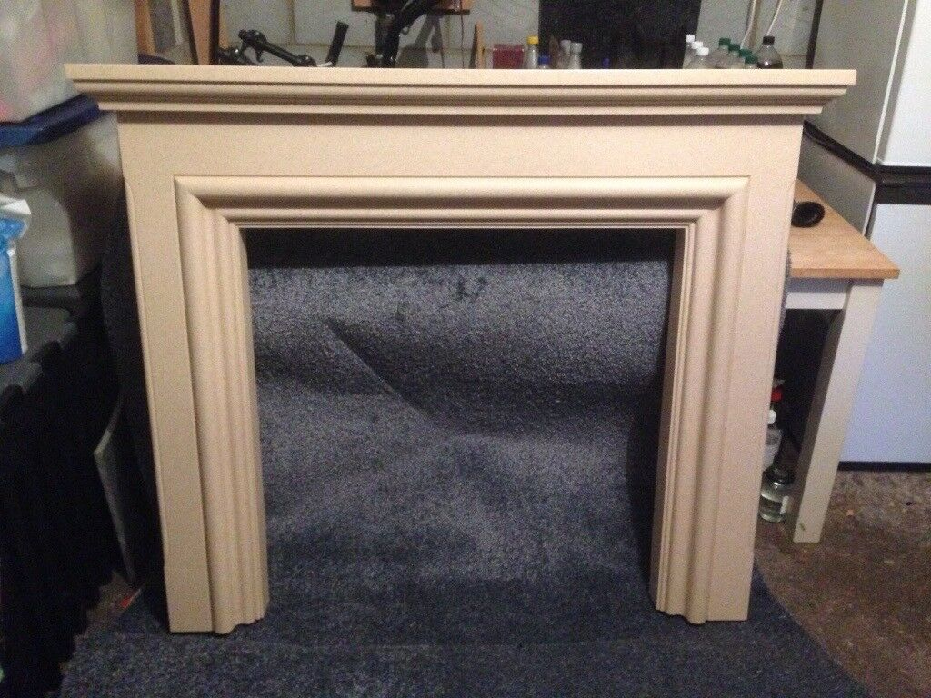 Marble effect fire surround ..
