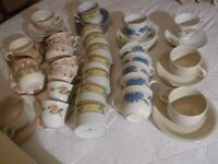 job lot 29 cups and saucers no damage