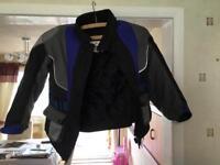 Baby Biker black with blue trim bike jacket