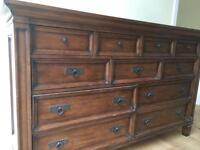 Oak cabinet with draws