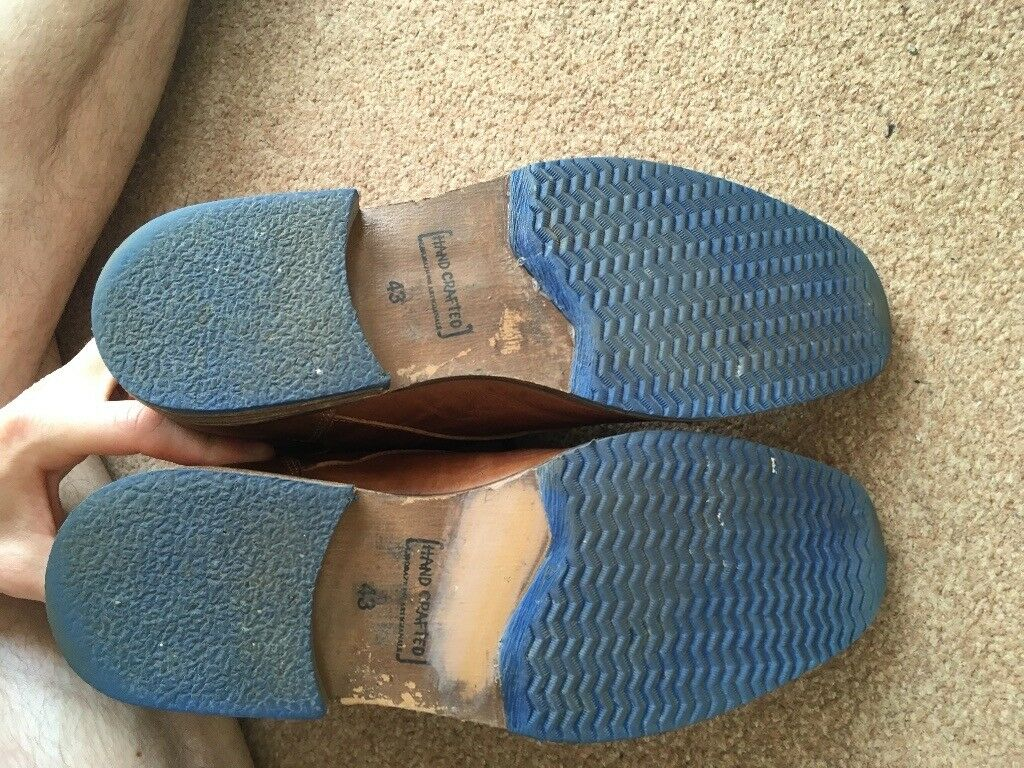c6c206b7869 Dune London 'Choppa' Boots. Men's size 9/43 tan blue sole, leather boots. |  in Leith, Edinburgh | Gumtree
