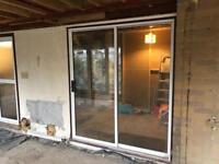 Double glazed sliding patio door
