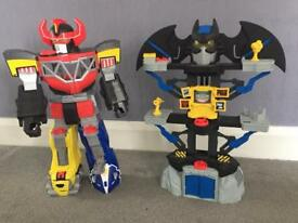 Imaginext power ranger and bat cave tower