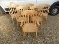 Country Farmhouse Solid Beech Slat Back Carver Chair *6 Available*