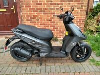 Used, 2015 Piaggio Typhoon 50 automatic scooter, 2 stroke, MOT, good runner, learner moped ,,, for sale  Morden, London