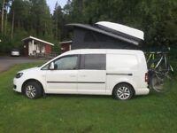 VW Caddy camper van motor home elevating pop top roof by West Dubs work van