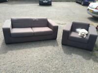 Grey 3 seater and 1 seater