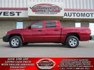 2006 Dodge Dakota CREW CAB, 4X4, VERY LOW KMS, LOCAL TRADE, FULL