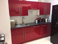 Complete kitchen units with worktop and appliances