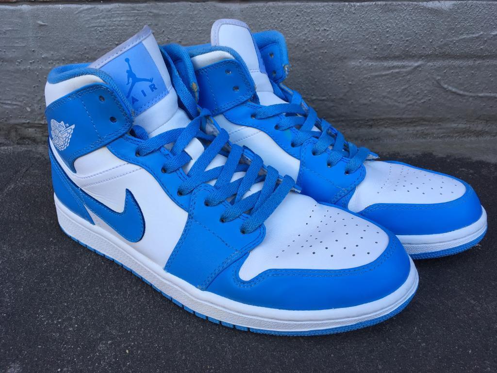 d1e6a1b03278 Nike air Jordan 1 retro white university blue UK 10