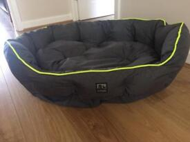 3 Peaks Grey Nevis Scalloped Dog Bed