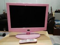 Television 22 inch Flat screen Pink