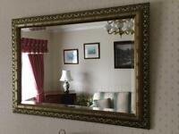 Antique gold effect mirror