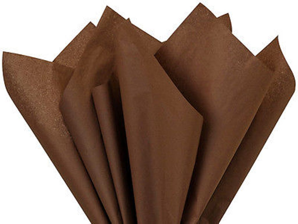 """15 SHEETS Chocolate Brown Tissue Paper~20""""x 30"""" ~GIFT WRAP B"""