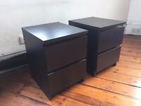 Set of 2 MALM Bedside Drawers / Tables from IKEA (RRP £78)