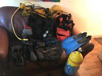 Scuba diving equipment (tank now sold)