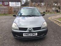 2003 Renault Clio 1.2 16v Expression 3dr Manual @07445775115