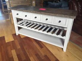 New/Ex-display*** 5 drawer hall table / wine rack ONLY £245