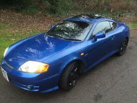 HYUNDAI COUPE SE 2.L ** MOT 11/8/17 NO ADVISORIES** CAM BELT DONE ON 131000K, LEATHER, SUNROOF £995