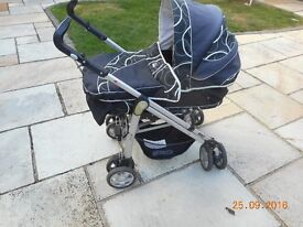 BABYSTYLE S3D PRAM C/W MATTRESS AND RAIN COVER