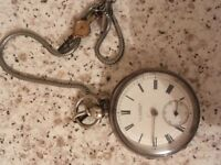 Silver pocket watch g j bruford Leicester