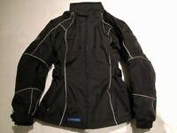 Lady Rider Motorcycle Jacket by Frank Thomas Size LS / UK 10, Black