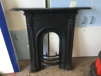 Good Quality reclaimed old cast iron fireplace