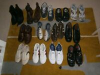 MENS CLOTHING BUNDLE - 36 ITEMS CLOTHING AND 13 PAIRS OF SHOES
