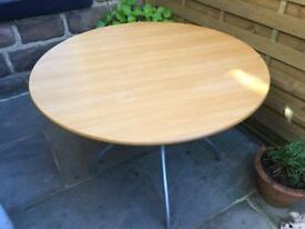 Circular Beech Dining Table