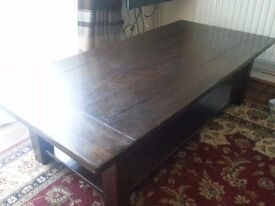 Solid Wood beautiful large coffee table