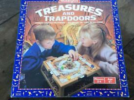 Treasures and trapdoors board game.