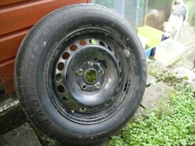 New unused Maxxis tyre and wheel, 195/65R15, on VW wheel.