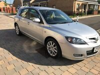 2008 MAZDA 3 TAKARA SILVER 1.6 AUTOMATIC WITH MOT 10 MONTH &FULL SERVICE HISTORY