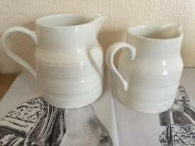 Lord Nelson Pottery White Jugs x2