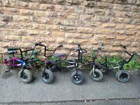 5x MINI ROCKER Mini BMX KIDS BIKES
