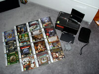 Nintendo 3DS with charger , docking station and 15 games