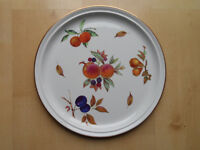 ROYAL WORCESTER EVESHAM PATTERN LARGE 34cm ROUND CHARGER PIZZA PLATE NEW