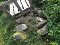 Free stones rocks boulders decorative wall rockery