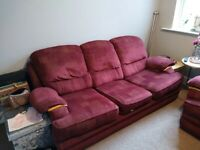 Maroon Sofa and Electric Chair for sale in Bromsgrove