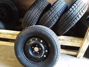FORD TRANSIT VAN WINTER TIRES AND RIMS 205/65R/15 BFG WINTER SLALOM KSI 205/65R15 CARGO VAN
