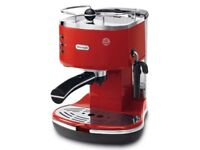 Delonghi Icona Retro Coffee Espresso Machine Red