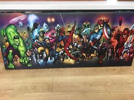 Marvel superhero canvas