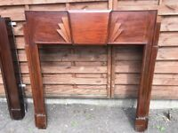 1930s Wood Fire Surrounds (x2) For Sale