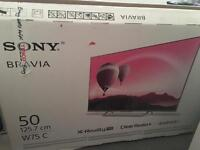 """Sony TV - KDL50W755CBU For Sale Open Box - (Full HD 1080p)50"""" inch TV With Android (KODI Support)"""