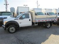 2014 Ford F-550 4x4 diesel with 12 ft alum dump