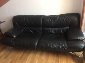 Black Genuine Leather Sofas